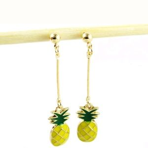 Betsey Johnson pineapple earrings